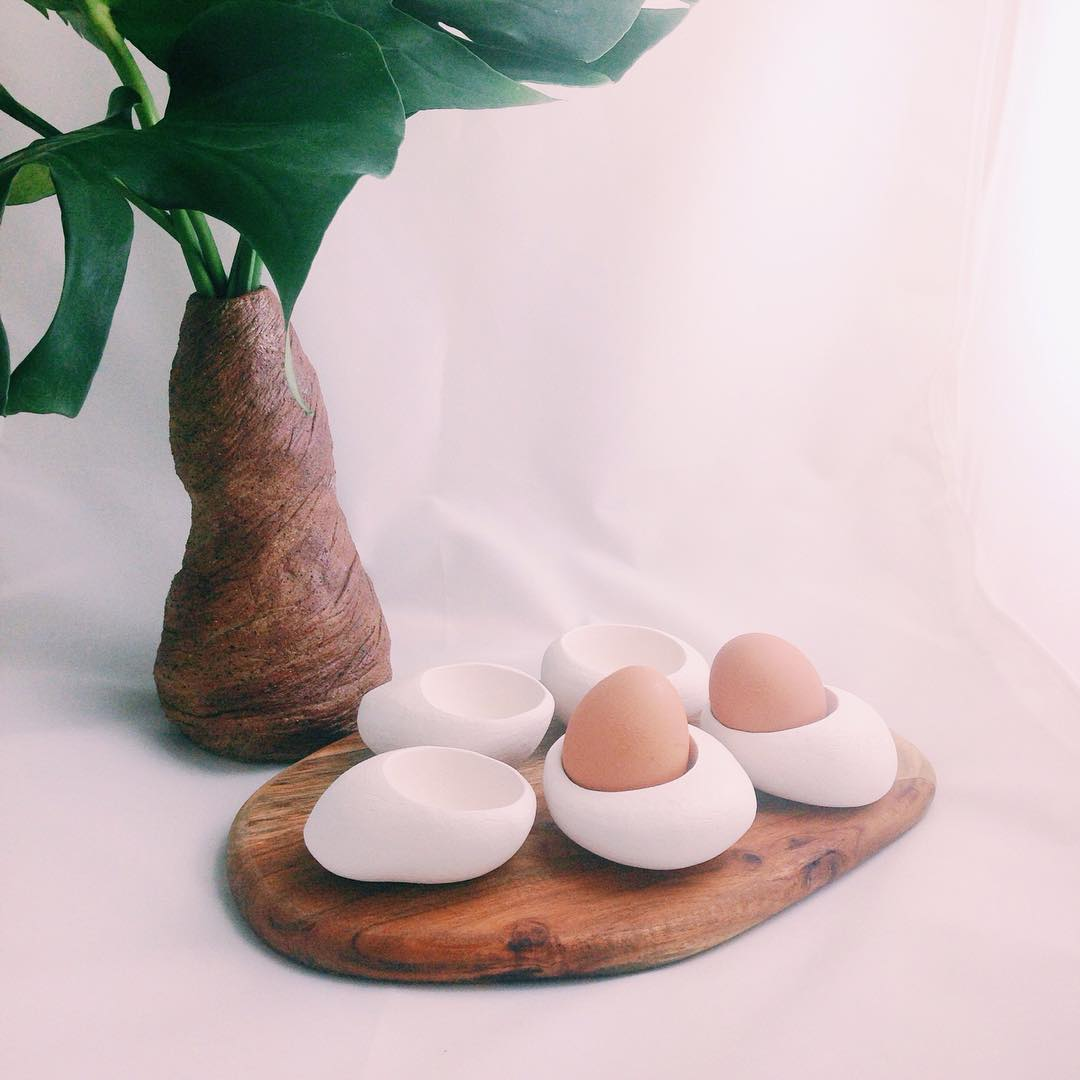 Life is one eggciting adventure!  #eggciting #eggs #adventure #handmade #pottery #clay #unglazed #madeinsg #studioasobi